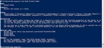 Format-Table Powershell