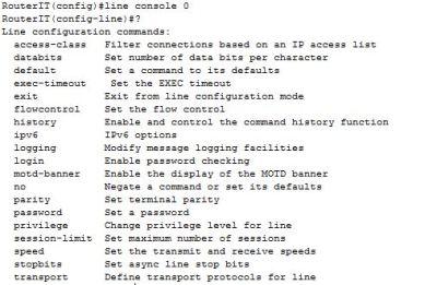 line console 0