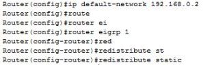 ip default-network command