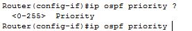 Ospf priority