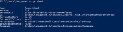 Get-Host Powershell