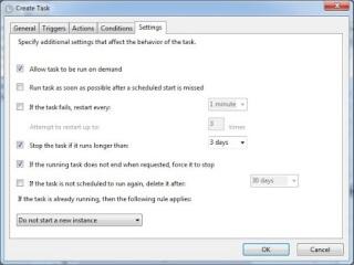 Task Scheduler conditions