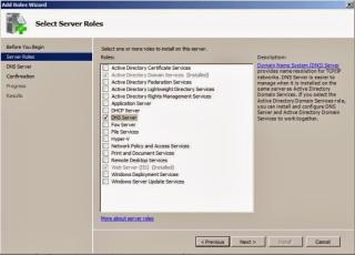 DNS service installation