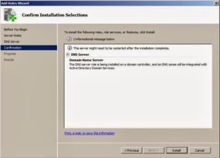 DNS installation