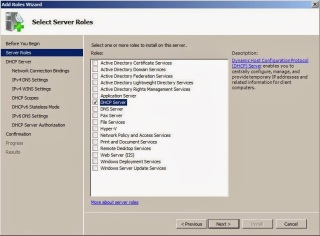Deploying a DHCP server