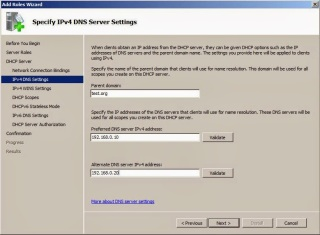 Add the DHCP server role