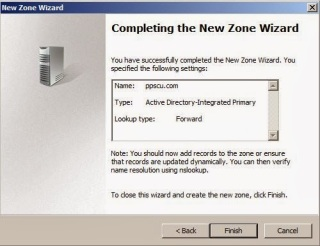 New DNS Zone Wizard