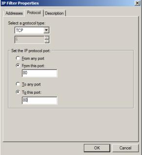 IPSec filter