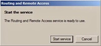 Start the Routing and remote access service
