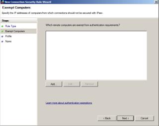 IPSec Exempt Computers