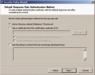 Default Response Rule Authentication Method