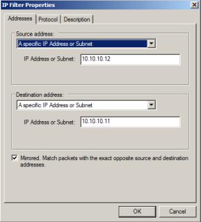 IP Filter Properties