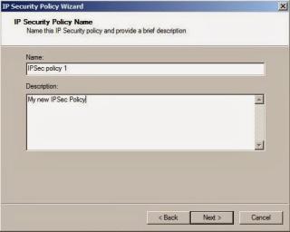 IPSec policy
