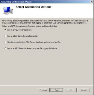 RADIUS Accounting Options