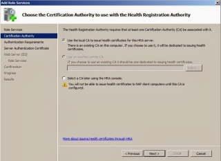 Certification Authority to use with the Health Registration Authority