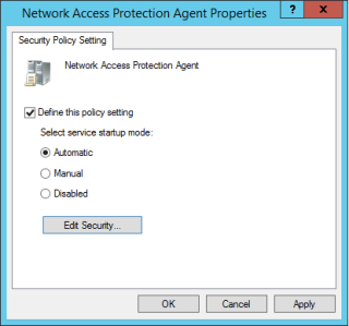 Network Access Protection Agent