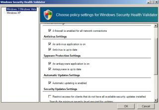 Windows Security Health Validators