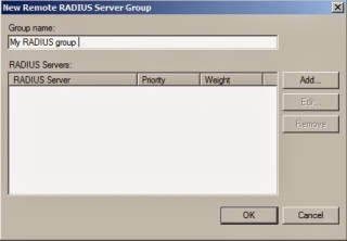 New Remote RADIUS Server Group