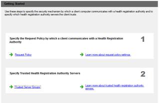 Health Registration Authority Servers