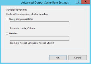 Cache rule