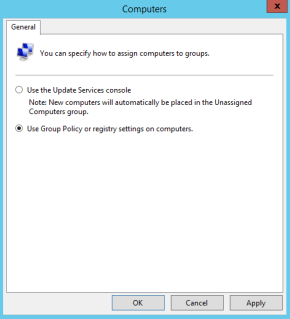 use Group Policy or registry settings on computers