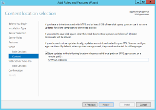 Windows Server Updates Services Wizard