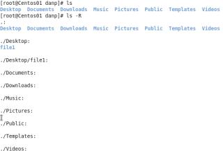 ls recursive command