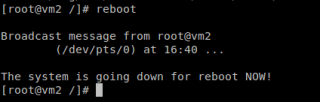 Linux reboot command