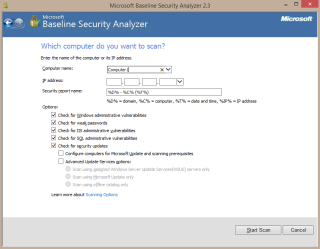 Baseline Security Analyzer tutorial