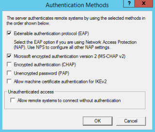 VPN authentication Methods
