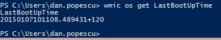 Last Boot Up Time Powershell