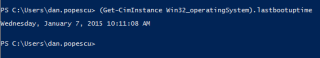 Powershell last boot time