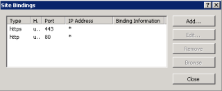 Web server bindings