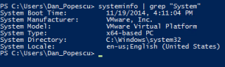 Powershell systeminfo command